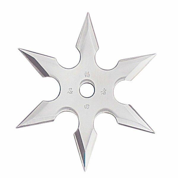 Gwiazdka Ninja Throwing Star 6Pt SS 4`` w/pouch