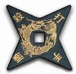 Gwiazdka Ninja Gumowa Rubber Throwing Star 4 Point 4.5``