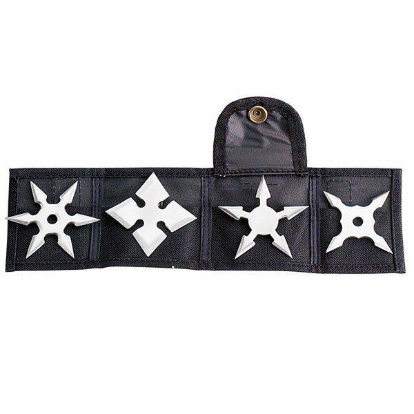 Gwiazdki ninja Mini Throwing Star 2.5`` - 4pcs/set w/pouch