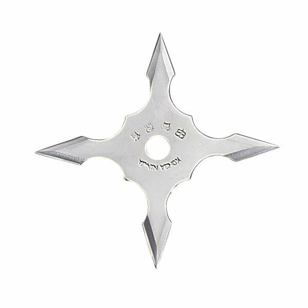 Ninja Star 4Pt SS 4`` w/pouch