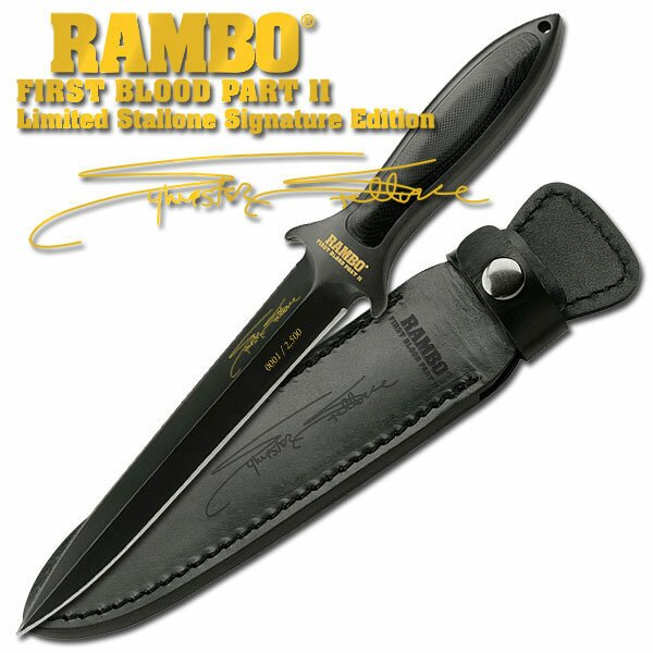 Nóż Rambo II Boot Blade Signature Edition