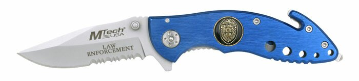 Nóż składany M-Tech Law Enforcement Rescue Knife Blue
