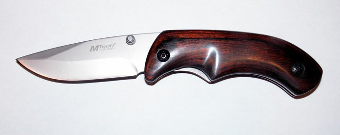Nóż składany Master Cutlery Folder Pakka Wood