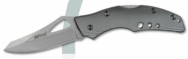 Nóż składany Master Cutlery Silver Lockback Folder