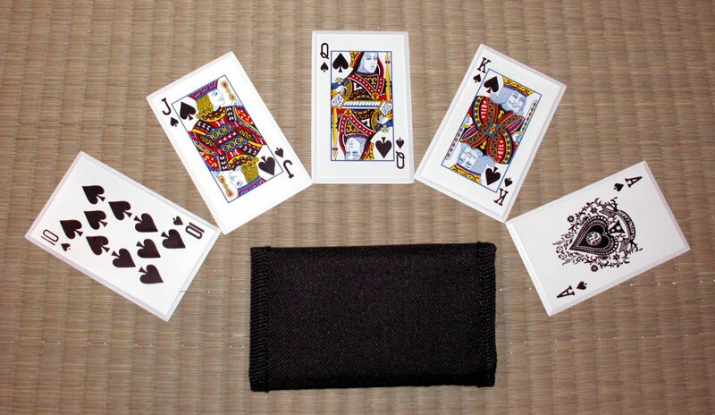 ``Royal Flush`` - SS card throwers, black