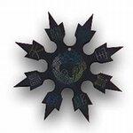 Throwing Star Dragon Black 4``