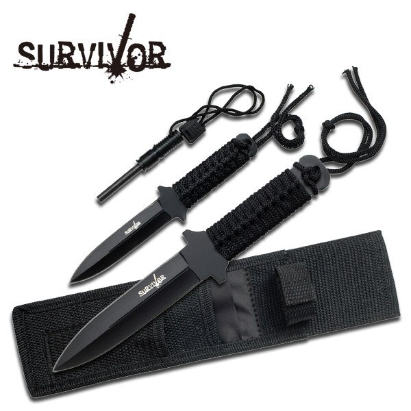 Zestaw noży Master Cutlery Military Set w Fire Starter